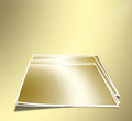 A set of sheets for photos on the gold abstract background Stock Photography