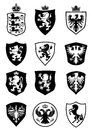 Set of shield heraldry Royalty Free Stock Photo