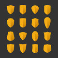 Set of shields in flat design style Royalty Free Stock Photo