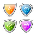 Set shields with identification signs illustration format eps Stock Photo