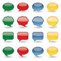 Set of shiny thought bubbles glass effect Icons Royalty Free Stock Photo