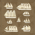 Set of ship icons Royalty Free Stock Photos