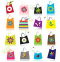 Set of shopping bags Royalty Free Stock Images