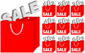 Set of Shopping Bags / Sale Icons Stock Image