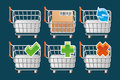 Set shopping cart icons Stock Photos