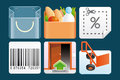Set shopping icons Stock Photography