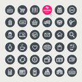 Set of shopping icons vector Stock Photos