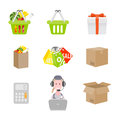 Set of shopping icons vector illustration Stock Images