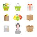 Set of shopping icons Royalty Free Stock Photo