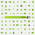 Set of shopping stickers Royalty Free Stock Photo