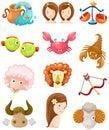 Set of sign zodiac