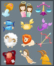 Set of sign zodiacs Royalty Free Stock Image