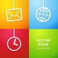 Set of simple icons for web use vector art Royalty Free Stock Photo
