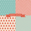 Set of simple retro christmas patterns cartoon for cute wallpapers Stock Photography