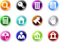 Set a simple small icons - Real Estate. Royalty Free Stock Photography