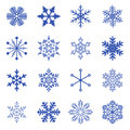 Set of simple snowflakes vector Royalty Free Stock Photo