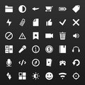 Set simple vector icons for media applications phone website web site Stock Photo
