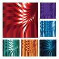 Set of six abstract backgrounds Royalty Free Stock Photography