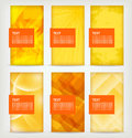 Set of six banners Royalty Free Stock Images