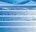 Set of six blue aqua banners Royalty Free Stock Photography