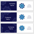 Set of six business cards. Vintage pattern in retro style with mandala. Hand drawn Islam, Arabic, Indian, lace pattern Royalty Free Stock Photo