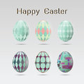 Set of six easter eggs Royalty Free Stock Photo