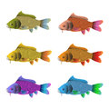 Set of six fish Stock Image