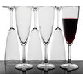 Set of six wine glasses. Royalty Free Stock Photo