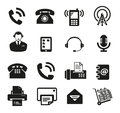Set of sixteen communication icon vector Stock Photos