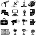 Set of sixteen icons Stock Photos