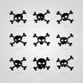 Set of skull and crossbones Royalty Free Stock Photo