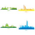 stock image of  Set of skylines