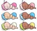 Sleeping Babies in Diapers