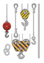 Set of slings separate vector about lift equipment Royalty Free Stock Photography