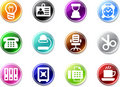 Set of small icons - Workplace. Royalty Free Stock Image