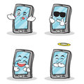 Set smartphone cartoon character collection