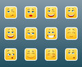 Set of smile stickers Royalty Free Stock Photo