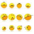 Set smile vector of cute balls all elements are grouped Stock Photo