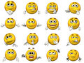 Set of Smiley 3D Emoticons Royalty Free Stock Photos