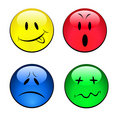 Set of smiley emotional faces Royalty Free Stock Photos