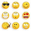 Set of smiley faces Royalty Free Stock Images