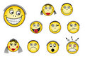 Set of smiley faces Royalty Free Stock Photos
