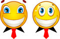 Set of smiley faces Stock Photo