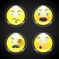 Set - smiley faces