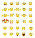 Set smileys Royalty Free Stock Photos