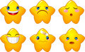 Set of smileys stars Royalty Free Stock Photos