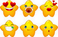 Set of smileys stars Stock Photo