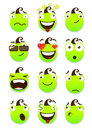 Set of smileys vector illustration isolated on a white background Stock Photo