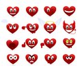 Set of smilies Stock Images