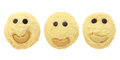 Set of Smiling cookies isolated Royalty Free Stock Photo